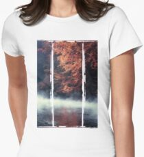 Nature*s Mirror - Fall at the River Womens Fitted T-Shirt
