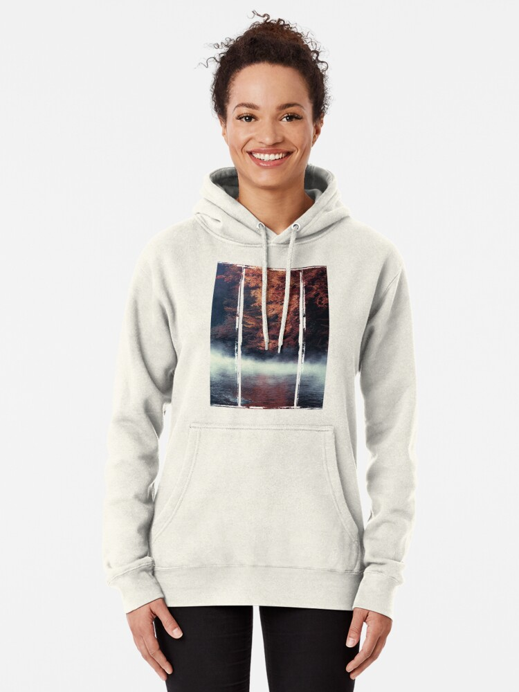 Alternate view of Nature*s Mirror - Fall at the River Pullover Hoodie