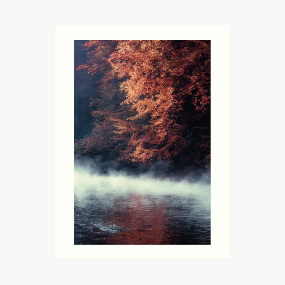 Nature*s Mirror - Fall at the River Art Print