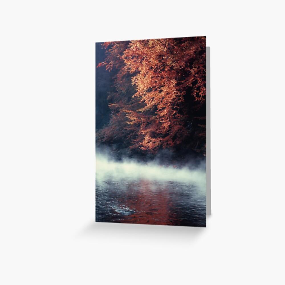 Nature*s Mirror - Fall at the River Greeting Card