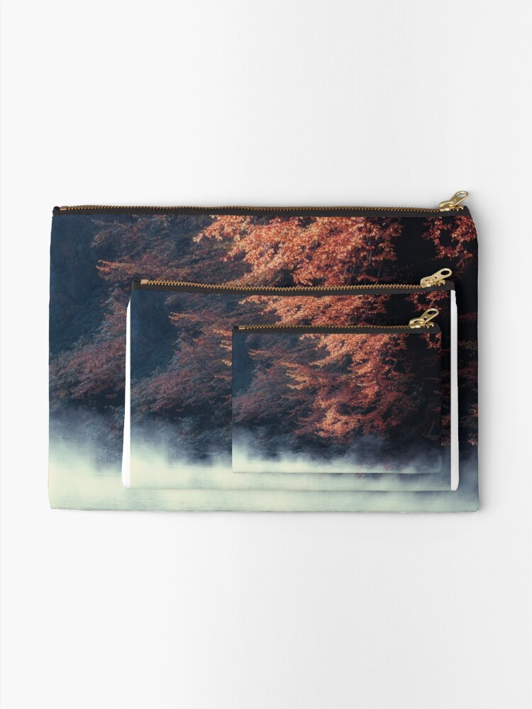 Alternate view of Nature*s Mirror - Fall at the River Zipper Pouch