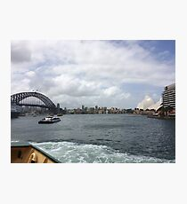 Harbour Bridge and the Opera House, Sydney, Australia  Photographic Print