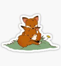 Fox puppies Sticker