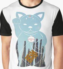 Blue Maneki neko Graphic T-Shirt