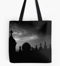 at the going down of the sun... Tote Bag