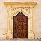 Decorated Door at Cathedral of San Carlos Borromeo by Yair Karelic