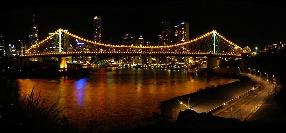 Story Bridge at Night by kira