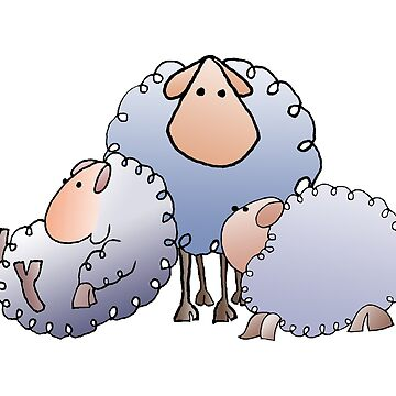 flock of woolly sheep by Royisaacs