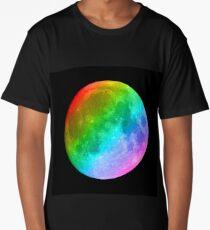 Rainbow colored full moon Long T-Shirt