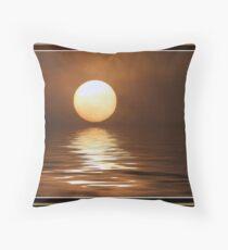 reflected foggy sun Throw Pillow