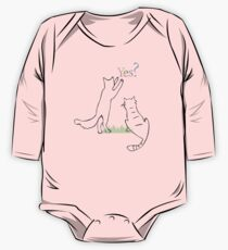 Playing cats drawing One Piece - Long Sleeve