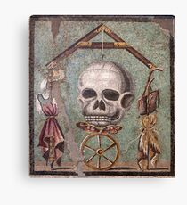 Memento Mori mosaic from Pompeii Canvas Print