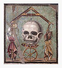 Memento Mori mosaic from Pompeii Photographic Print