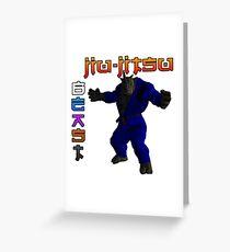 Jiu-Jitsu Beast Rhino Greeting Card