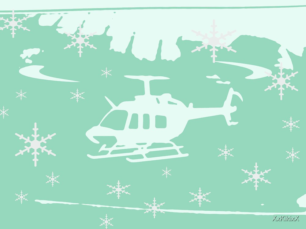 winter helicopter by XxKikixX