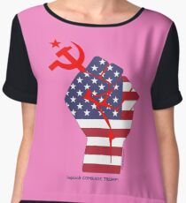 Impeach COMRADE TRUMP! Chiffon Top