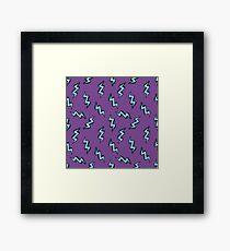 lightning doodle pattern Framed Print