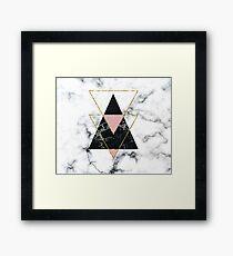 Geo glam marble Framed Print