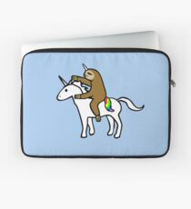 Slothicorn Riding Unicorn Laptop Sleeve