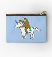 Slothicorn Riding Unicorn Zipper Pouch