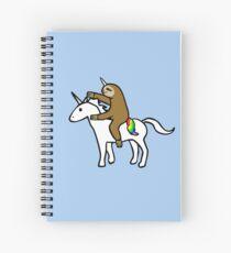 Cuaderno de espiral Slothicorn Riding Unicorn