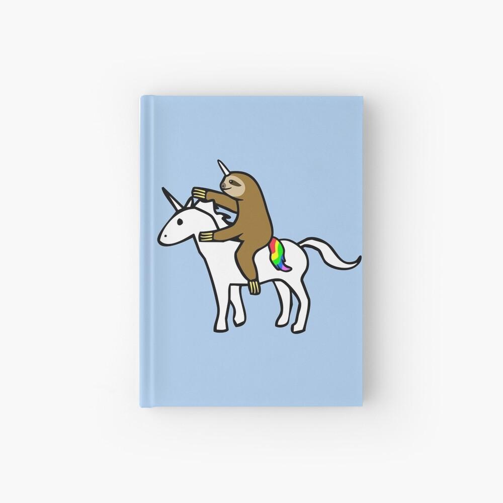Slothicorn Riding Unicorn Hardcover Journal