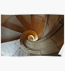 Fibonacci Stairs in the Convent of Christ - Tomar Poster