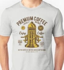 Premium Coffee Press Machine Retro Vintage Distressed Design T-Shirt