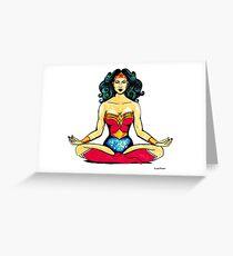 Zen Superhero Greeting Card