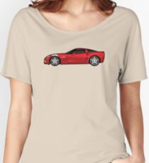 Red Sports Car Design Women's Relaxed Fit T-Shirt