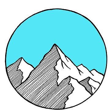 Bosquejo de la montaña de smalltownnc