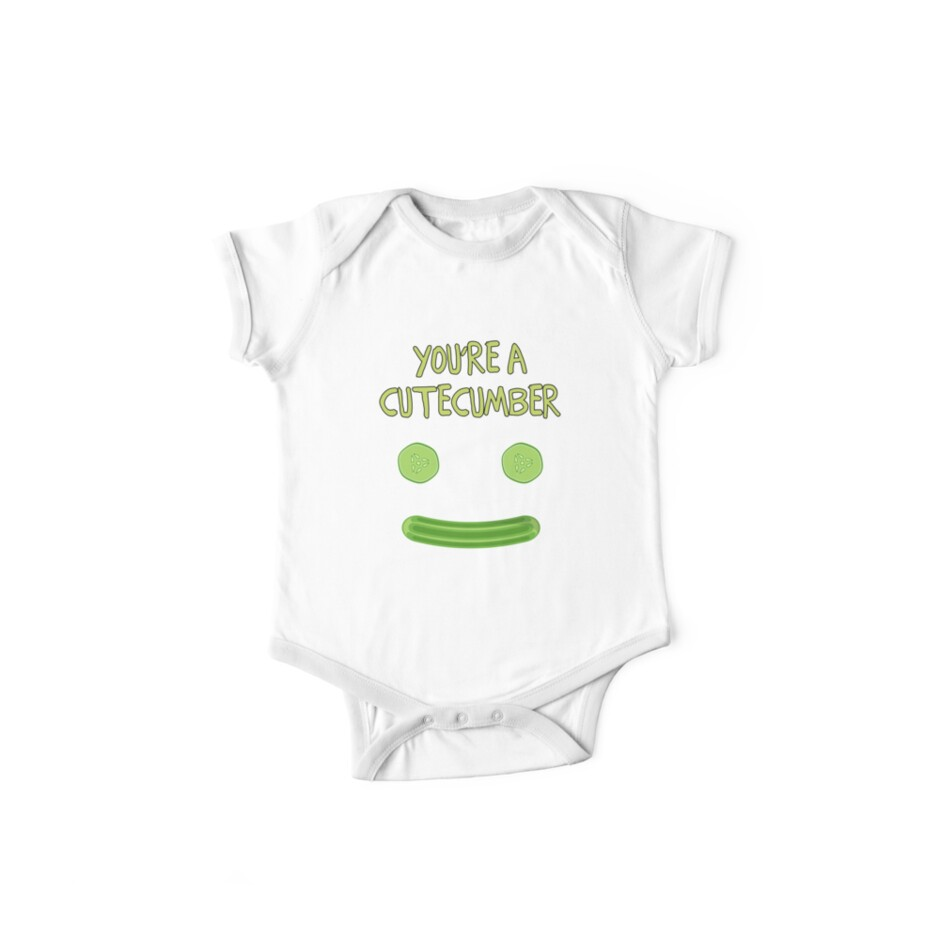 If You Were A Vegetable Cute-Cumber Short-Sleeve Unisex T-Shirt Yellow / Green