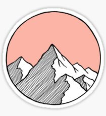 Berge Skizze Sticker