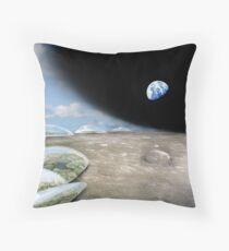Terraforming the first moon of Terra Nova Throw Pillow