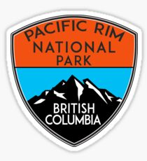 PACIFIC RIM NATIONAL PARK BRITISH COLUMBIA CANADA Skiing Ski Mountain Mountains Snowboard Boating Hiking 2 Sticker