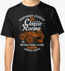 Classic Racing Speedrace Retro Vintage Distressed Design Classic T-Shirt