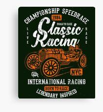 Classic Racing Speedrace Retro Vintage Distressed Design Canvas Print