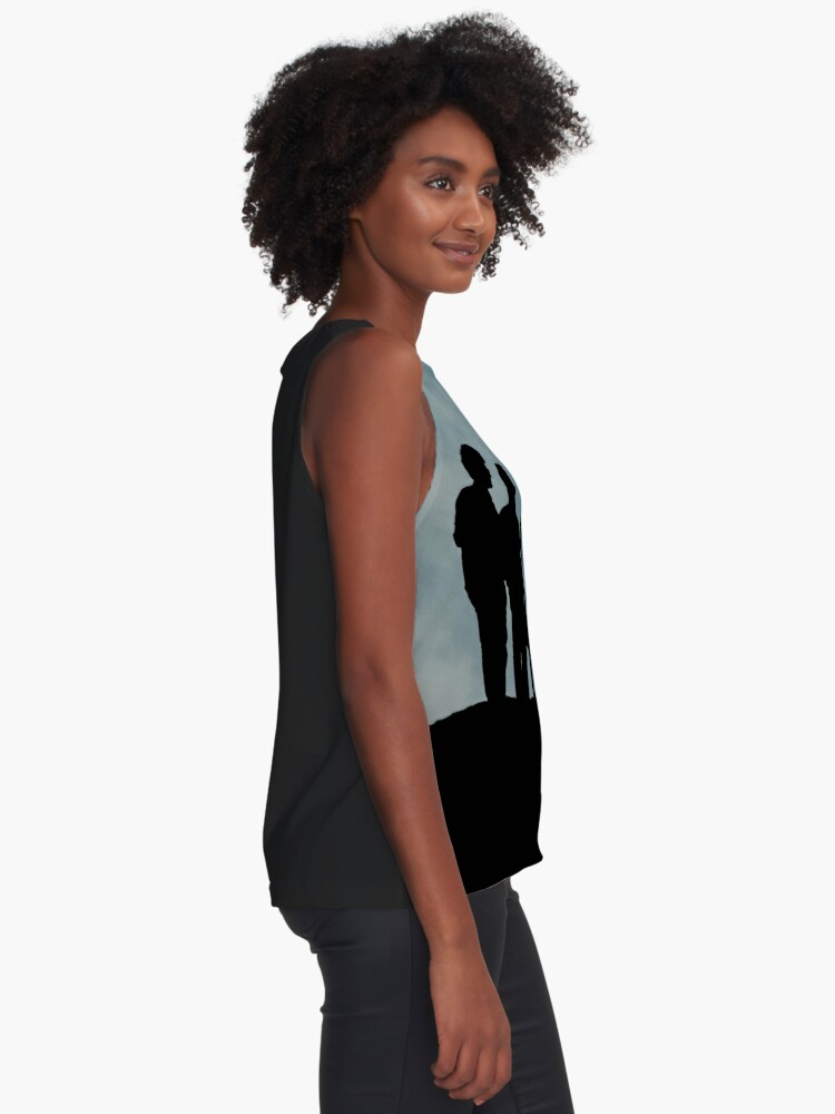 Alternate view of shadows on the hilltop  Sleeveless Top