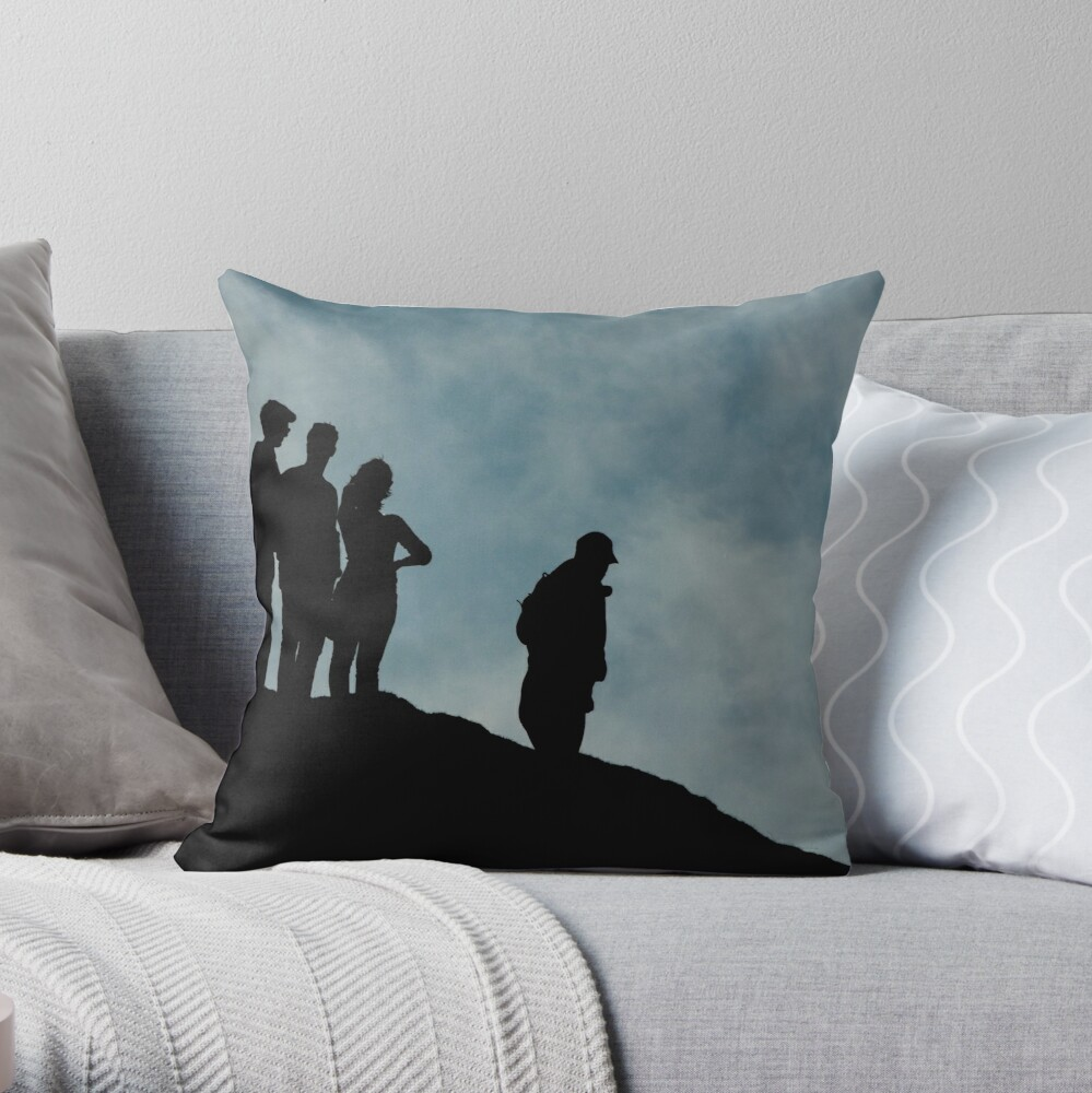 shadows on the hilltop  Throw Pillow