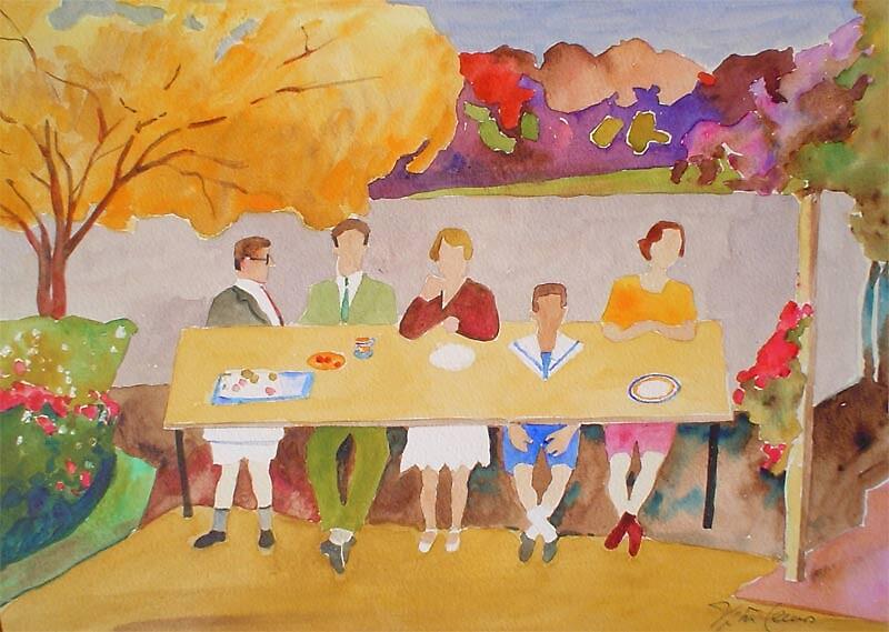 Lunch in the garden by Vitor Lemos