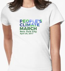 People's Climate March - New York City NYC - April 29, 2017 Womens Fitted T-Shirt
