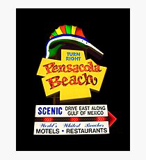 Pensacola Beach Sign Photographic Print