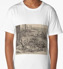 Hieronymus Bosch - Saint Martin With His Horse In A Ship1605 Long T-Shirt