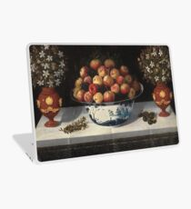 Hiepes, Tomas - Delft Fruit Bowl And Two Vases Of Flowers Laptop Skin