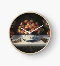 Hiepes, Tomas - Delft Fruit Bowl And Two Vases Of Flowers Clock