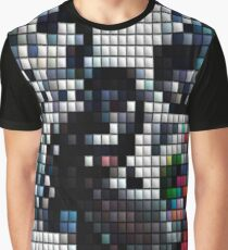 Mosaic Tile Woman Art Graphic T-Shirt