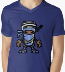 Coffee ninja or ninja coffee? - blue Mens V-Neck T-Shirt