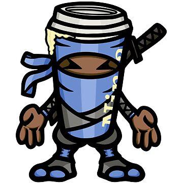 Coffee ninja or ninja coffee? - blue by hoofster