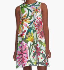 Green starling. A-Line Dress