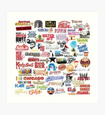 Musical Theatre Greats Art Print